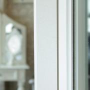 Pays Blanc Range - Antique White Triple Dressing Table Mirror