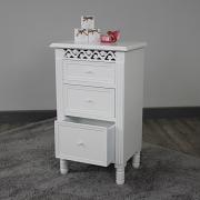 Blanche Range - 3 Drawer Bedside Table