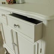 Elise Grey Range - 2 Drawer Dresser With Cupboards