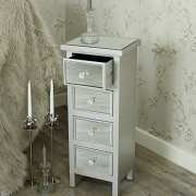 The Angelina Range - Mirrored Four Drawer Tall Boy