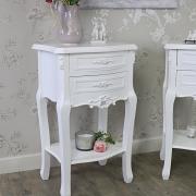 Rose Range - Furniture Bundle, Pair of White 2 Drawer Bedside Table