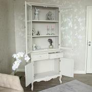 Elise Grey Range - Glazed Display Cupboard