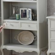 Elise Grey Range - Bookcase with Drawers