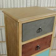 Natural Drift Wood 5 Drawer Unit