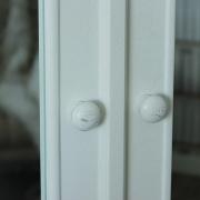 Pays Blanc Range - Antique White Mirrored Double Wardrobe