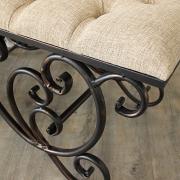 Ornate Upholstered Bench