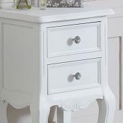 Elise White Range - Two Drawer Bedside Table