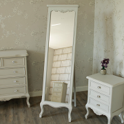 Elise Grey - Furniture Bundle, Grey Sideboard, Cheval Mirror, Dressing Table, Mirror, Stool and 2 Bedside Tables