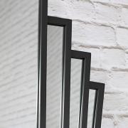 Black Art Deco Fan Style Wall Mirror