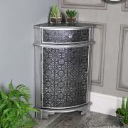 Monique Range - Silver Corner Cabinet