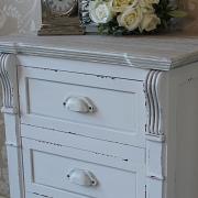 Lyon Range - Cream 3 Drawer Bedside Table