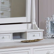 Lyon Range - Cream Dressing Table Swing Mirror with Drawers