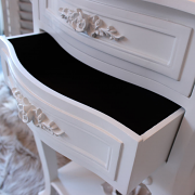Rose Range - Ivory 2 Drawer Bedside Table