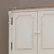 Lyon Range - Cream Wall Mounted Cupboard With Drawers