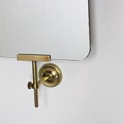 Tall Adjustable Brass Wall Mirror