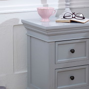 Grey Two Drawer Bedside Chest - Daventry Dove-Grey Range
