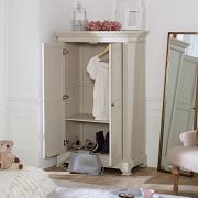Grey Linen Closet / Low Wardrobe - Daventry Taupe-Grey Range