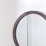 Round Wooden Wall Mirror 60cm x 60cm