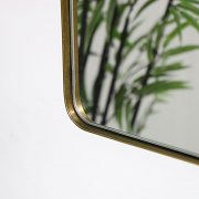 Brushed Gold Thin Framed Wall Mirror 50cm x 75cm