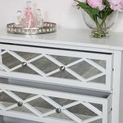 White Mirrored Drawers
