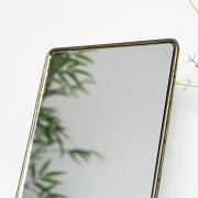 Rectangle Gold Vanity Mirror