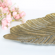 Gold Metal Leaf Tray