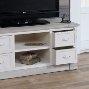 The Lyon Range Cream Painted Television Cabinet