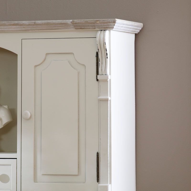 Lyon Range - Cream Wall mountable cupboard unit