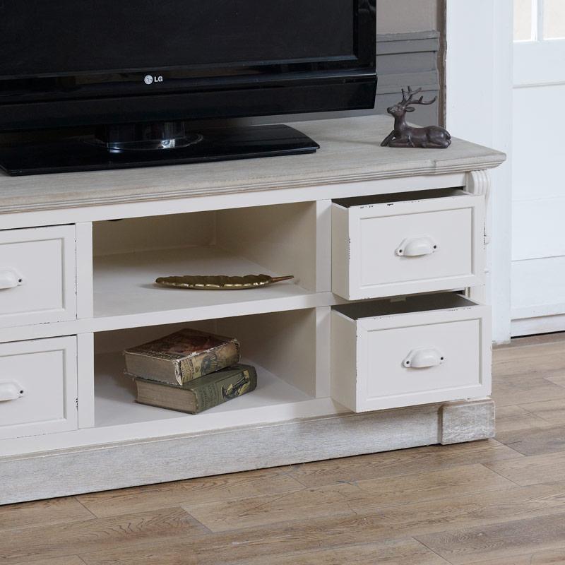 The Lyon Range Cream Painted Television Cabinet
