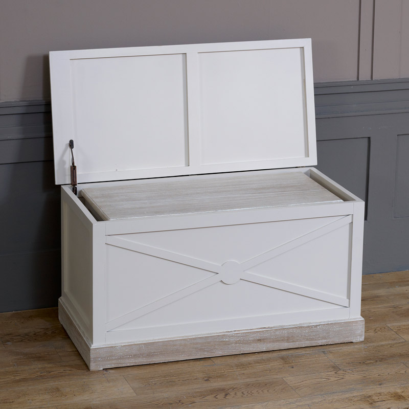 Lyon Range - Cream Set of 2 Storage Blanket Boxes
