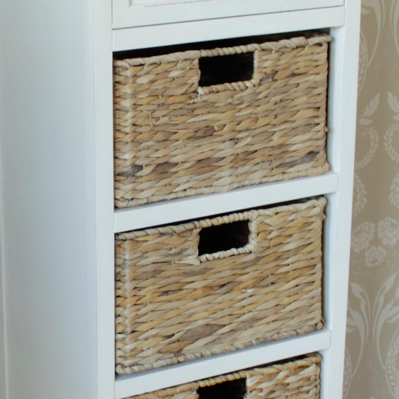 Curver Infinity 4 Drawer Storage Tower Grey White Plastic & Rattan Storage Drawers Uk - Best Drawer Model