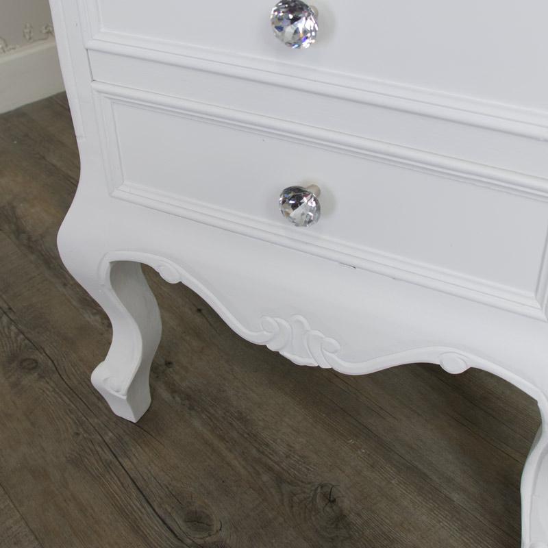Furniture Bundle, Pair of 3 Drawer Bedside Table - Elise White Range