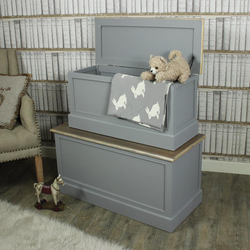 Admiral Range - Grey Set of 2 Blanket Boxes