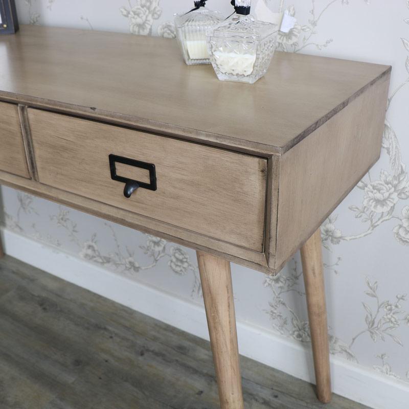 Brixham Range - Three Drawer Console Table