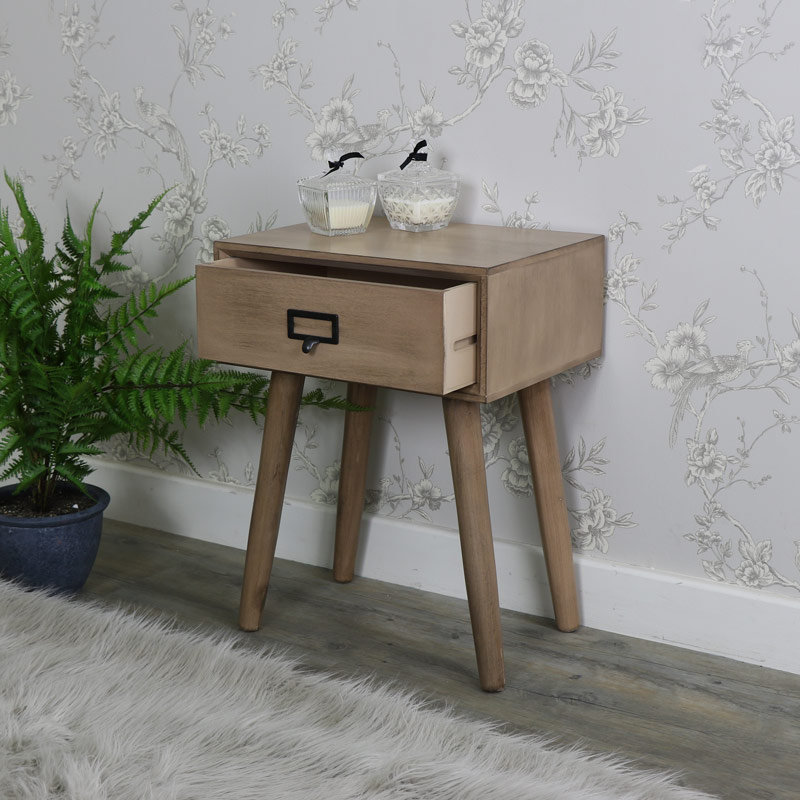 Brixham Range - Wooden Bedside Table