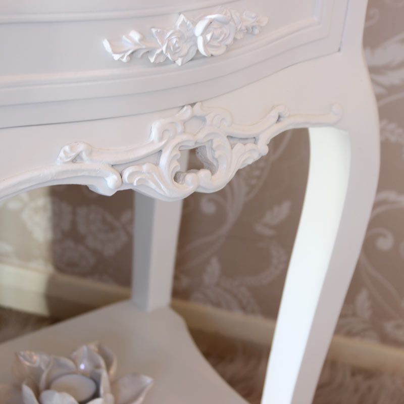 Rose Range - Ivory 2 Drawer Bedside Table