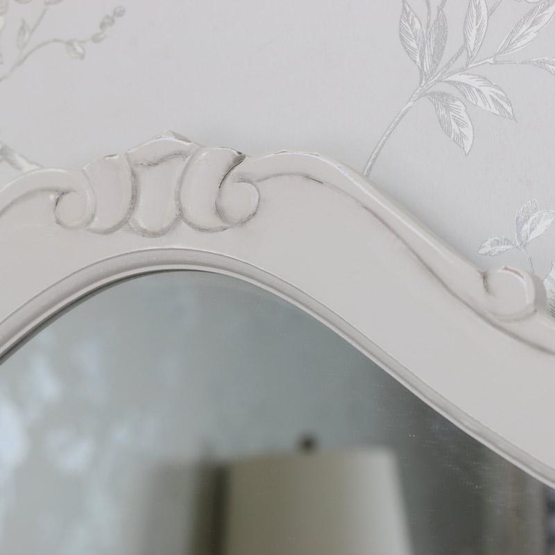 Ornate Triple Dressing Table Vanity Mirror - Elise Grey