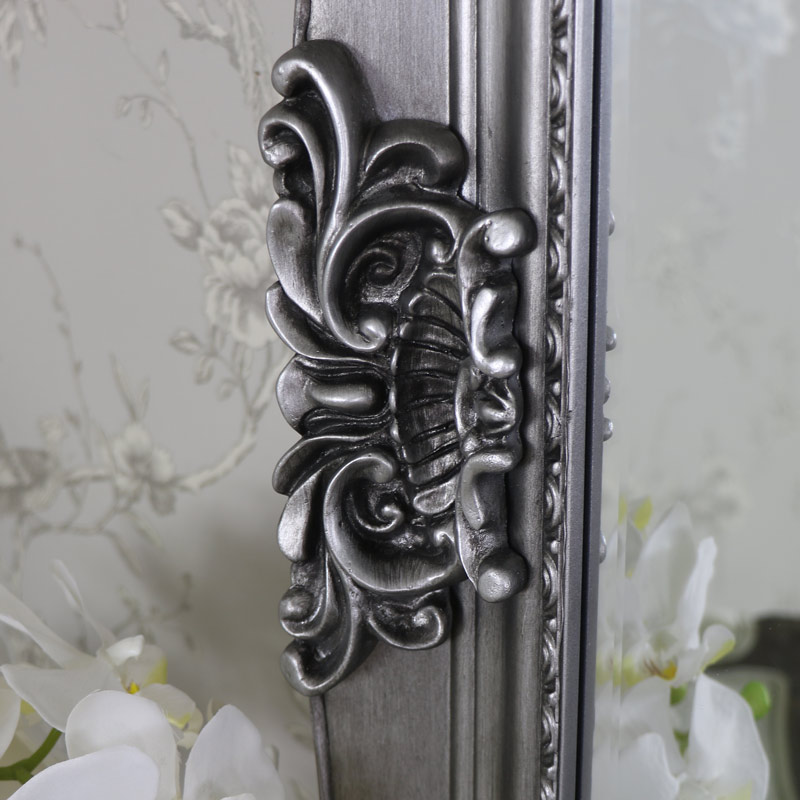 Extra Large Silver Full Length Mirror Flora Furniture