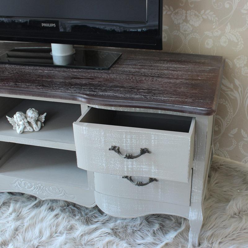 French Grey Range - Grey TV Cabinet Unit