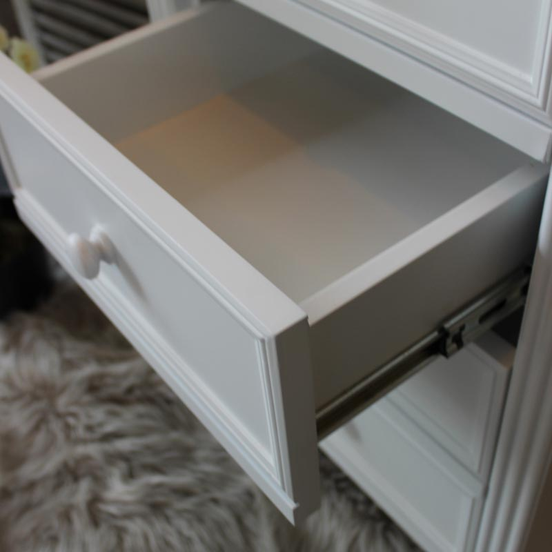 Fleur Blanche Tallboy Chest of Drawers in White