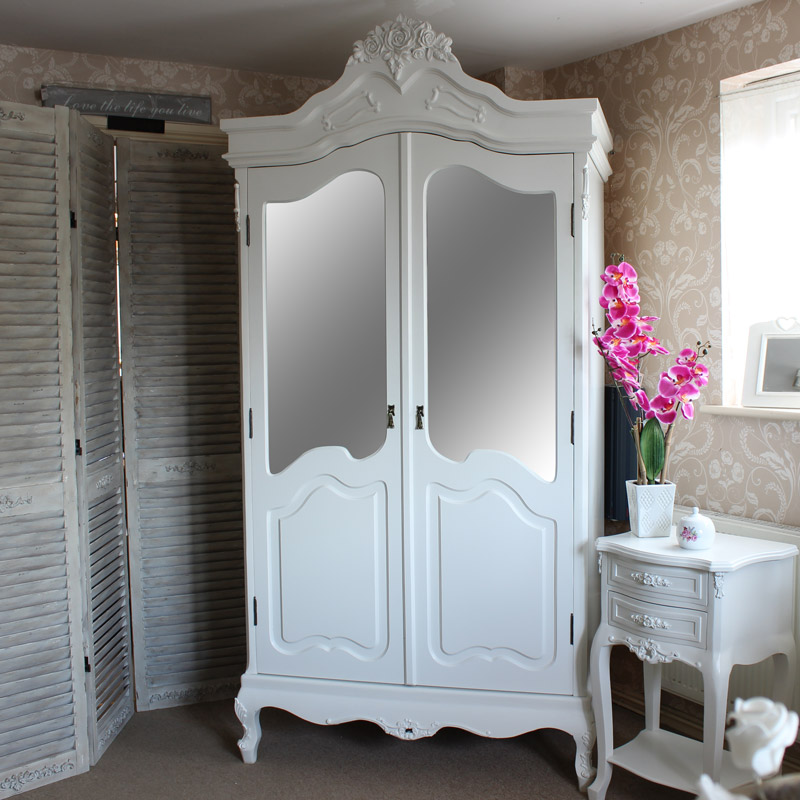 Rose Range - Furniture Bundle, Dressing Table, Mirror & Stool Set, Chest of Drawers, Wardrobe and 2 Bedside Tables