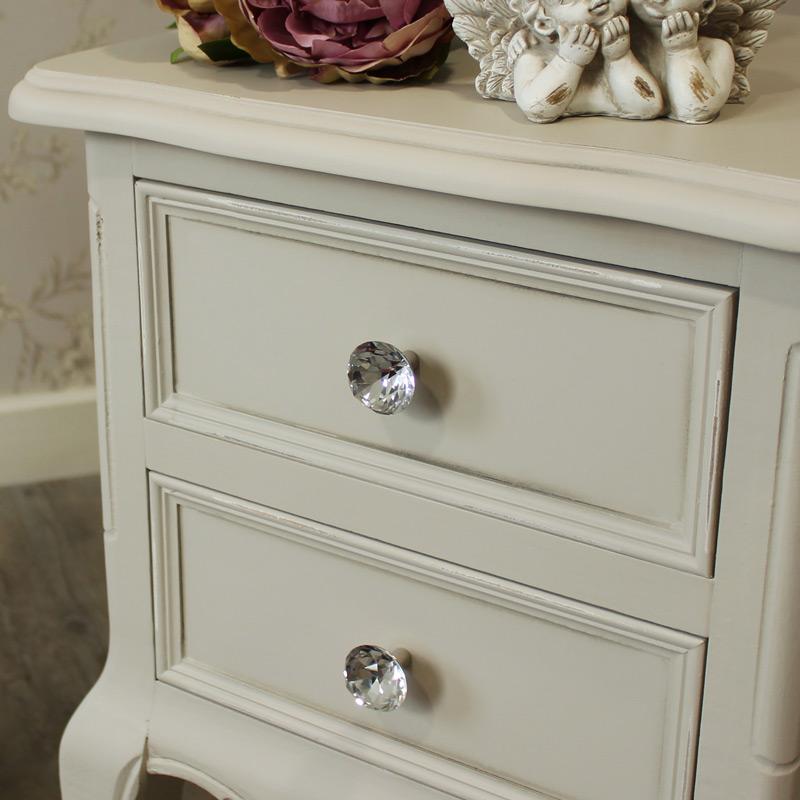 Elise Grey Range - Furniture Bundle Pair of Grey Two Drawer Bedside Tables
