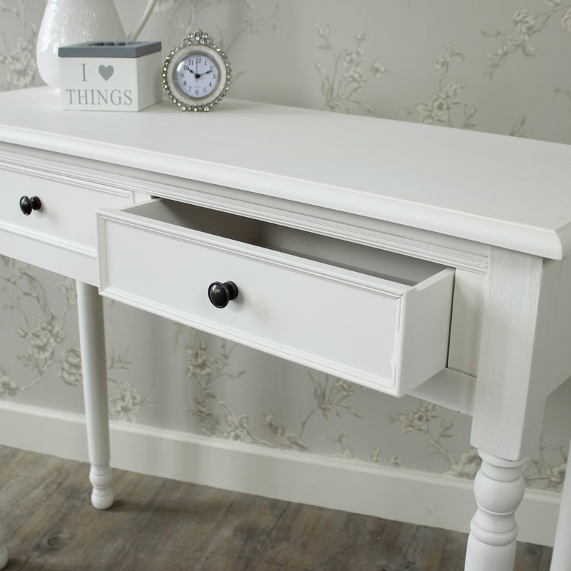 Camille range white console table flora furniture - White hall table uk ...