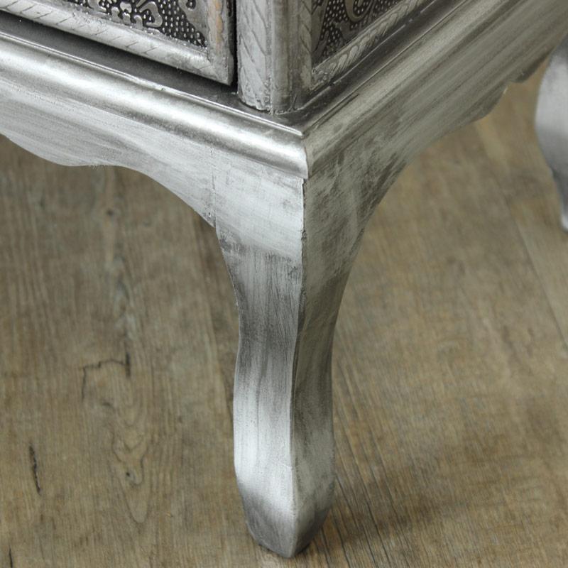 Monique Range - Silver 4 Drawer 1 Door Cabinet