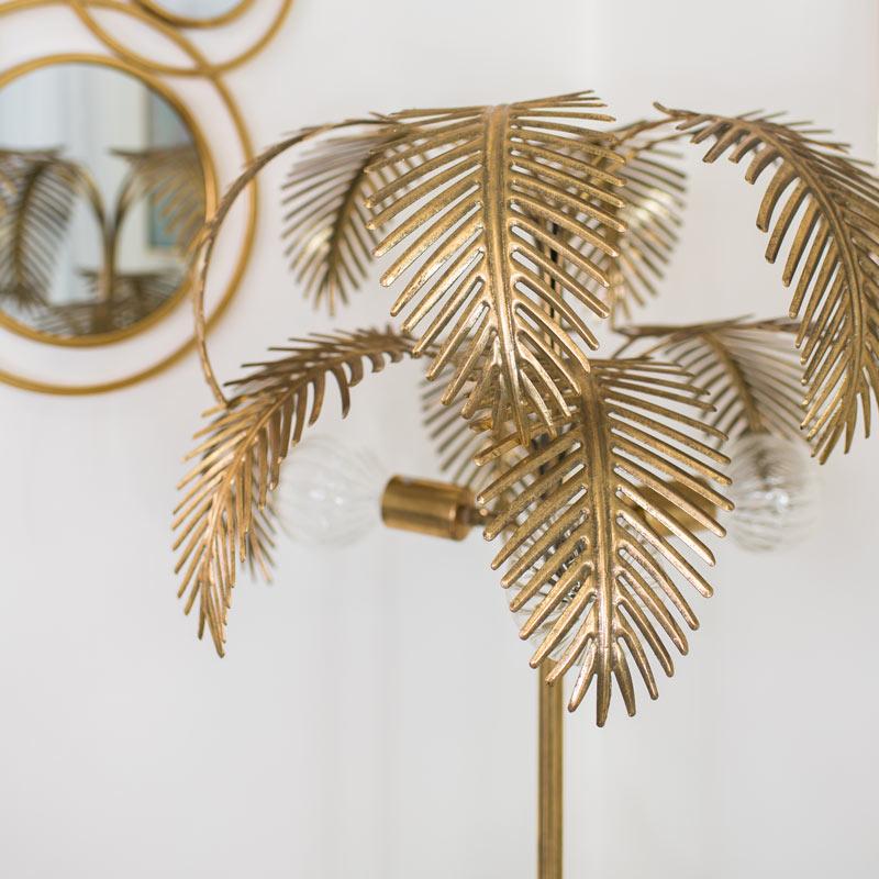 Large Gold Palm Tree Floor Lamp Flora, Palm Floor Lamp Uk