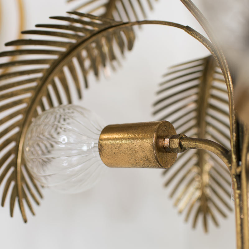Large Gold Palm Tree Floor Lamp Flora, Palm Floor Lamp Silver