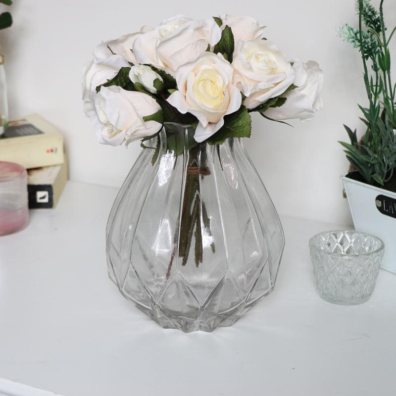 Clear Cut Glass Vase