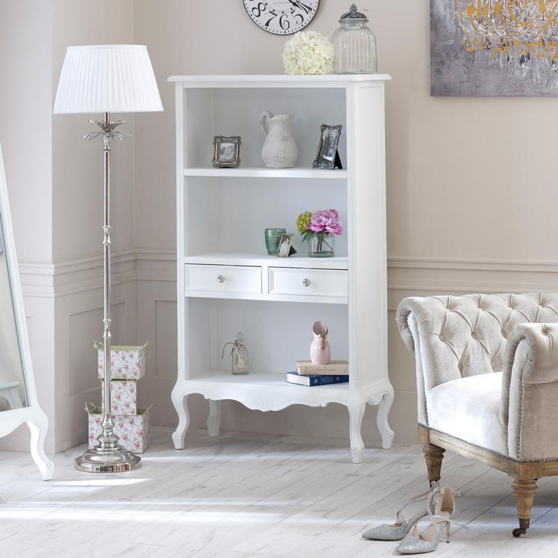 Elise White Range - Bookcase with Drawers