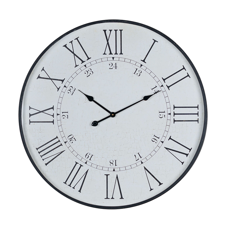 Large Black Vintage Wall Clock 80cm x 80cm