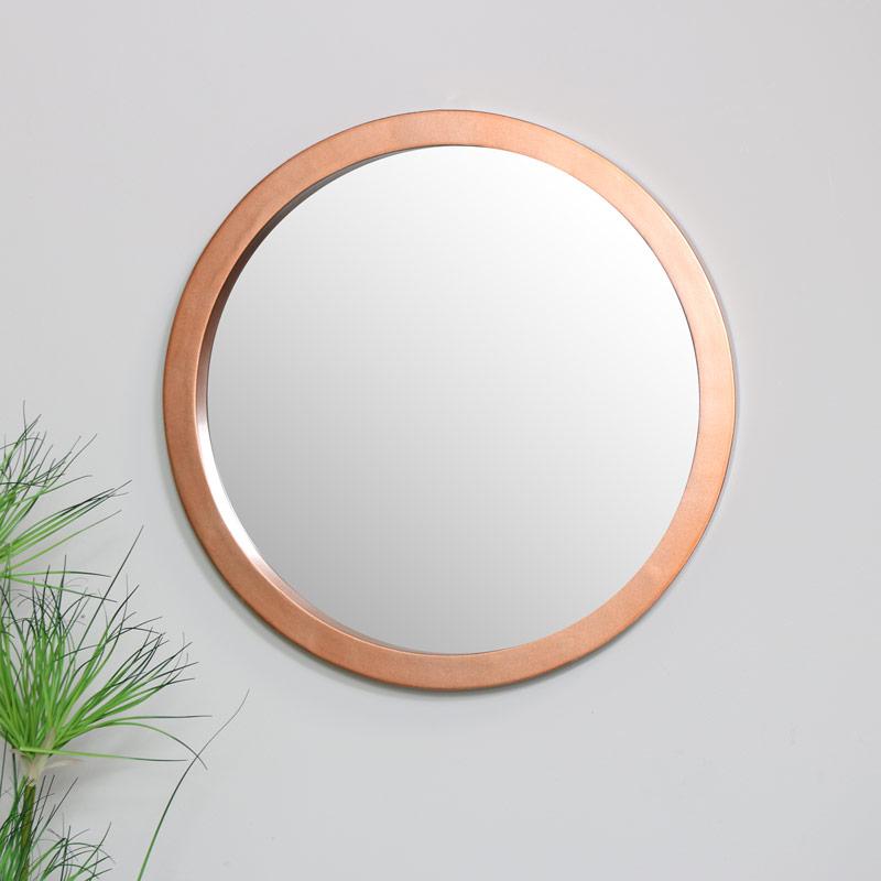 Round Copper Wall Mirror 50cm x 50cm